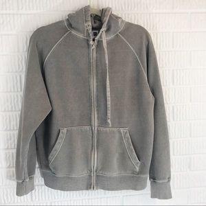 Gap gray zip up hoodie